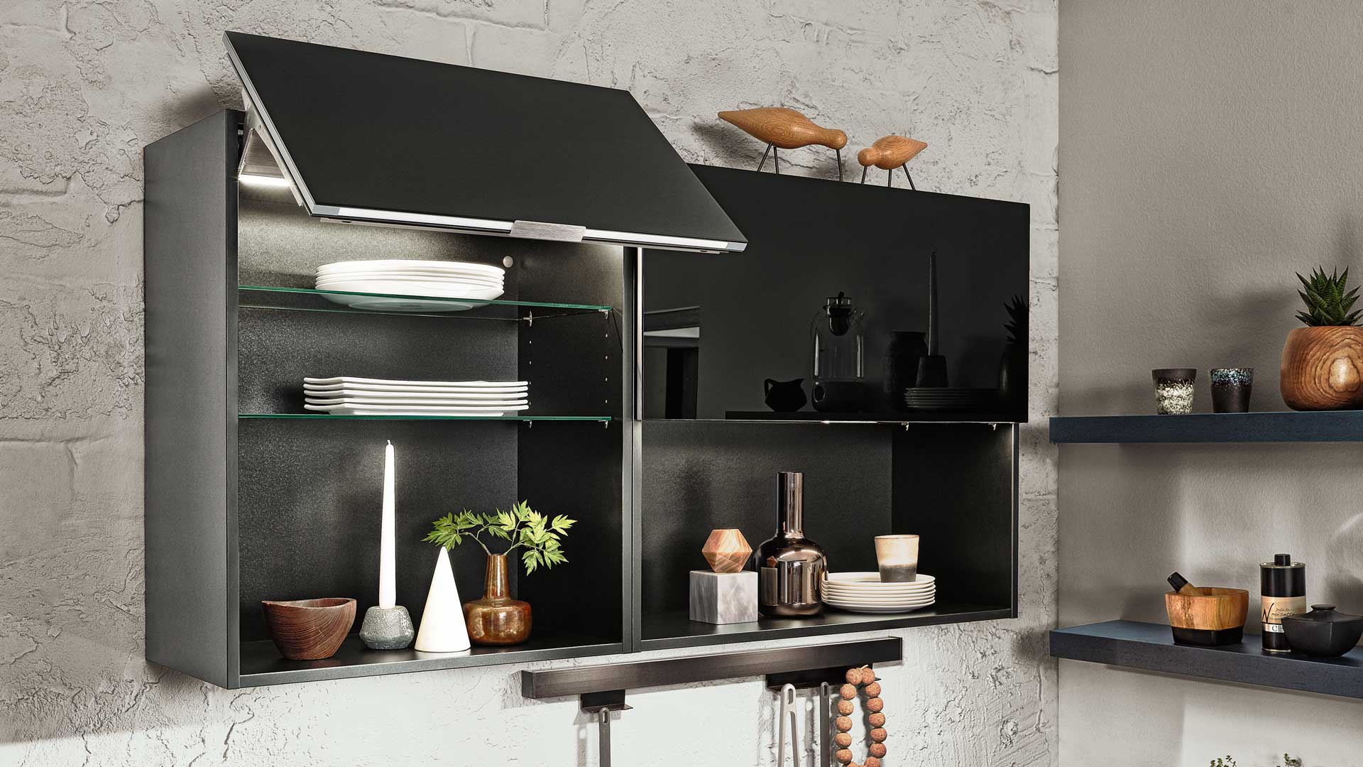 Häcker Ausstattung Metallic Steel Küchen Miele Center Ebner und Spuller Graz