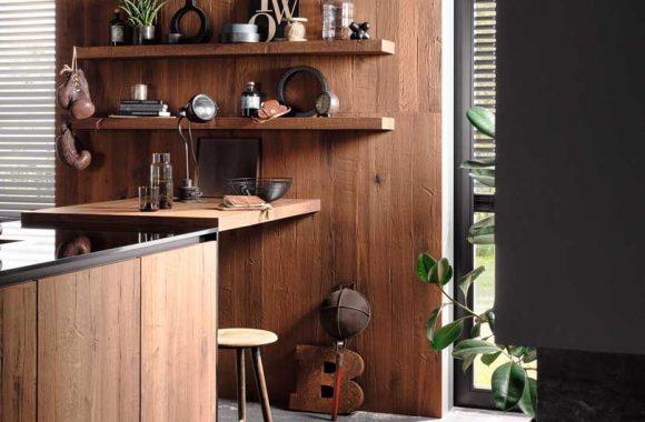Wohnliches Ambiente dank Holzoberfläche