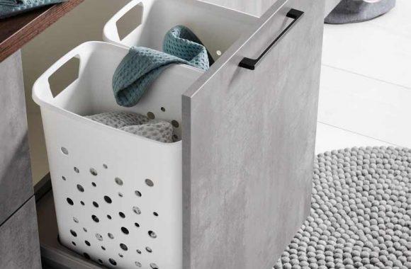 Platzsparende Lade für Wäsche