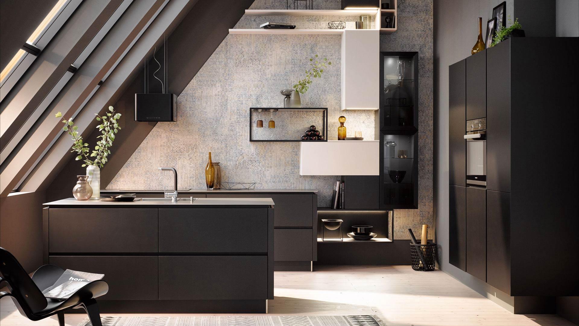Platzsparende Küche für kleine Räume bei Miele Center Ebner & Spuller in der Steiermark