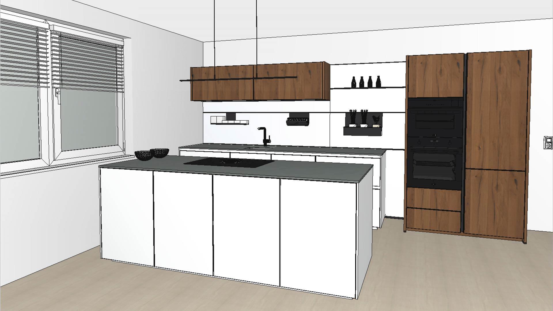 3D-Küchenplanung für optimale Vorbereitung im Küchenstudio Ebner & Spuller in Graz