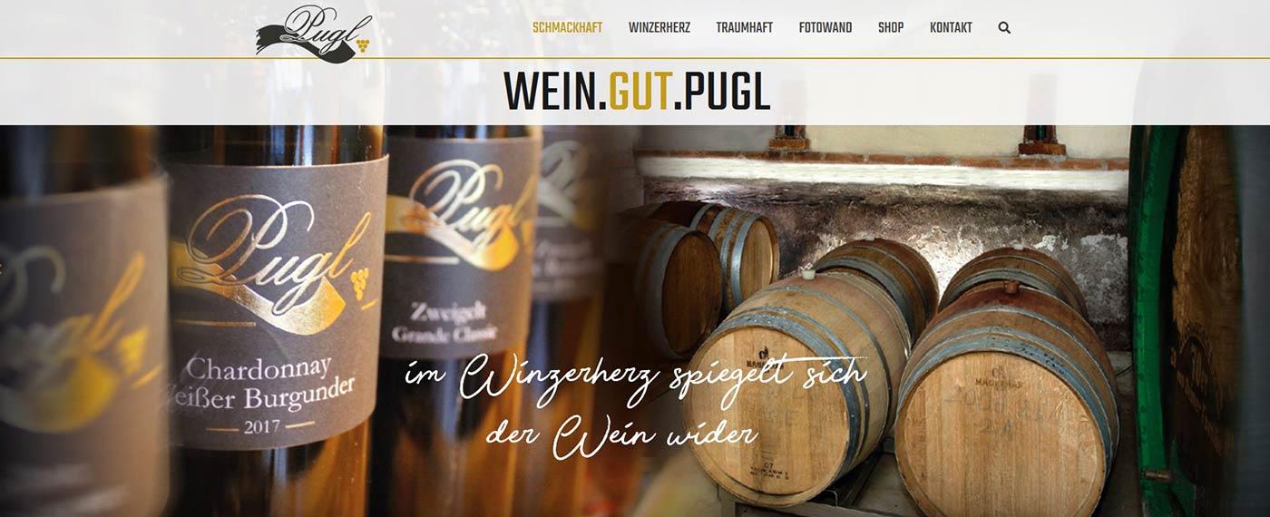 Es werden feinste Weine von Familie Pugl präsentiert.