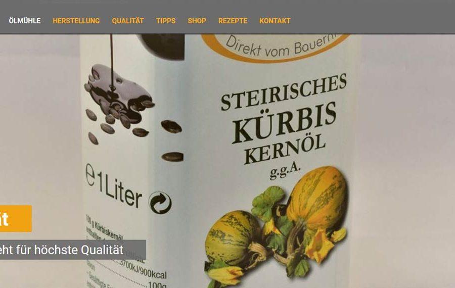 Steirisches Kürbiskernöl von STEIRAÖL darf nicht fehlen!